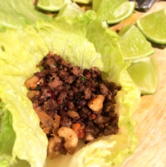 Yuk Sung (Spicy Pork in Lettuce Wraps)